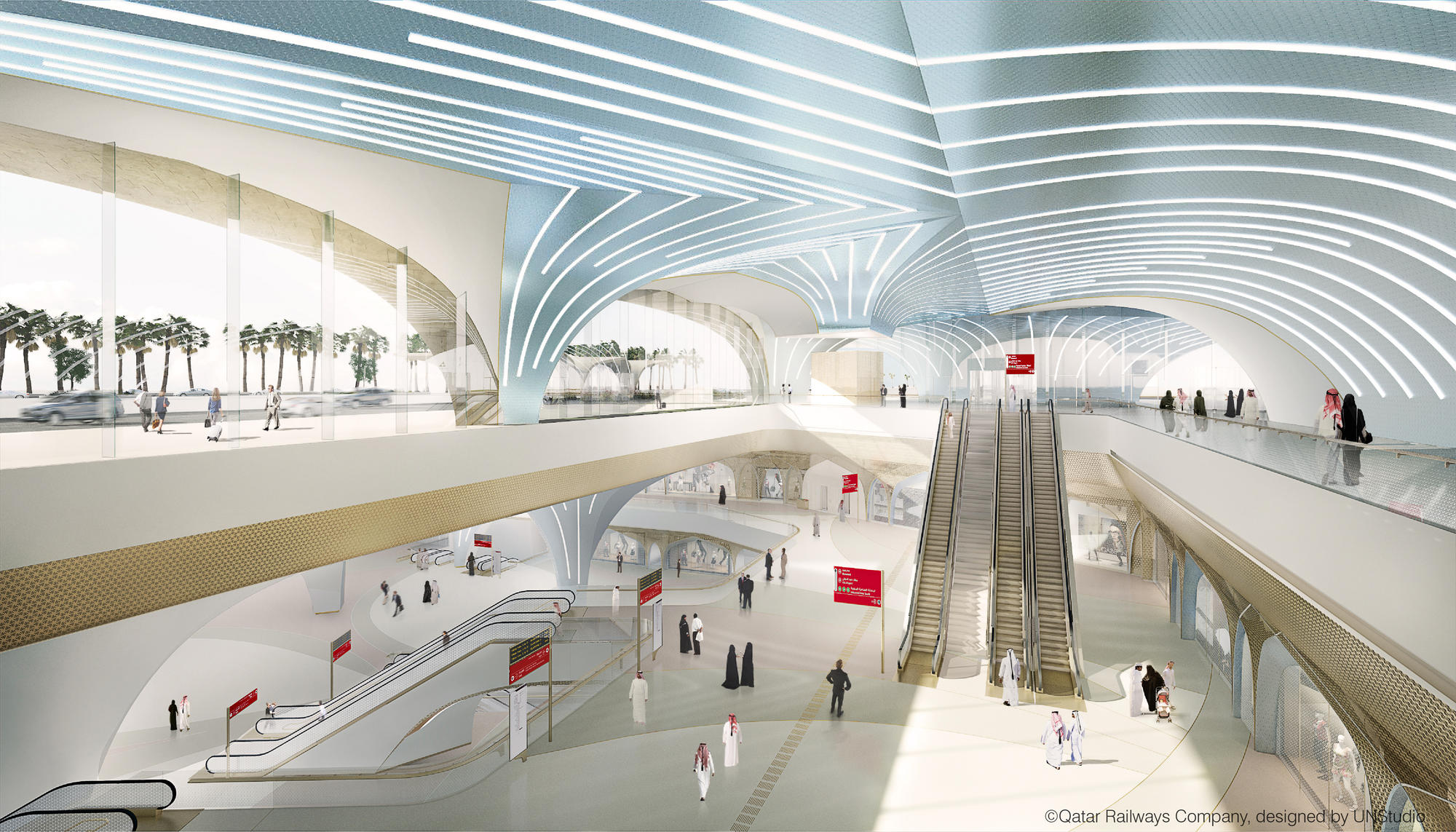 Qatar integrated railway project unstudio for Architecture companies qatar
