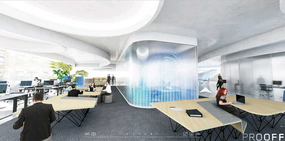 Experience virtual reality collaboration with prooff for Virtual office design